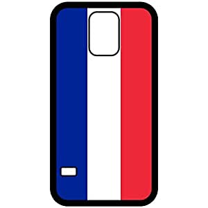 France Flag Black Samsung Galaxy S5 Cell Phone Case - Cover