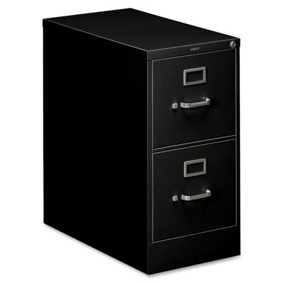 310 Series Two-Drawer, Full-Suspension File, Letter, 26-1/2d, Black by HON (Catalog Category: Furniture amp; Accessories / File Cabinets)