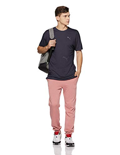 Energy T shirt Bleu Puma peacoat Ss T Homme Heather zvnqgBx