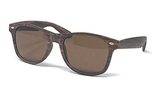 nbsp;estilo Textura de Black años sol efecto de colección gafas Brown 50 madera C7qZOwt