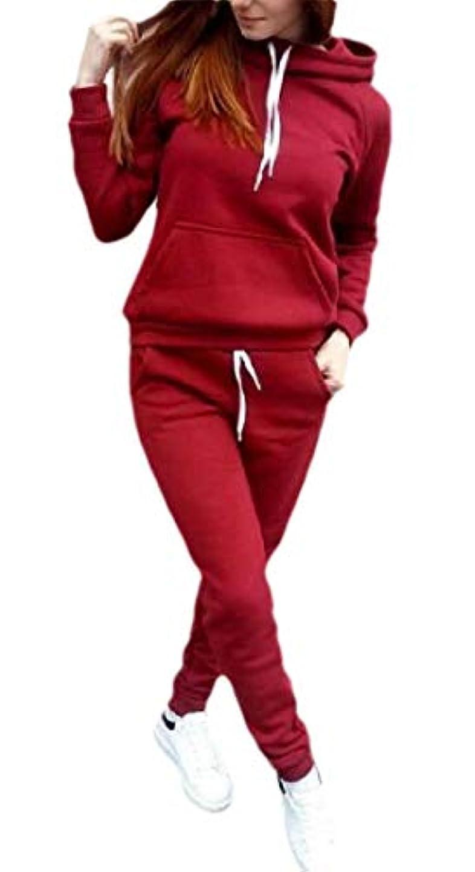 困難関与する厚さKeaac 女性のスウィート2ツーピース衣装ロングスリーブプルオーバーとジョガーパンツ