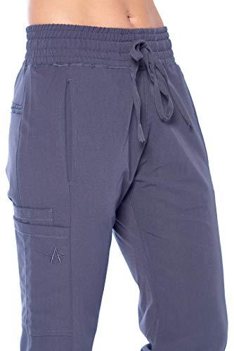 ANGEL UNIFORMS- Vicky 6-Pocket, Slim-Fit Stretch Scrub Pants with Elastic Waistband Medical M