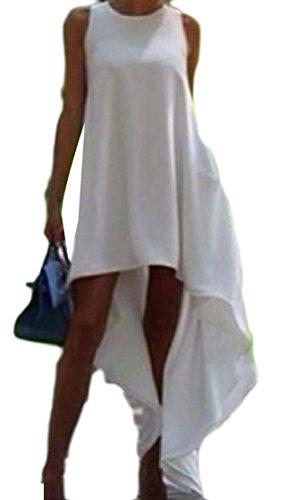 O Lungo Elegante Magro Colore Del Maglione Pullover Asimmetrico collo Di donne Coolred Bianco Puro Uwq8PP