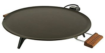 Bethany Griddle Heritage 1450 W 16 In. Dia. Silverstone Non-Stick, Wood Handles - Heritage Lefse Grill