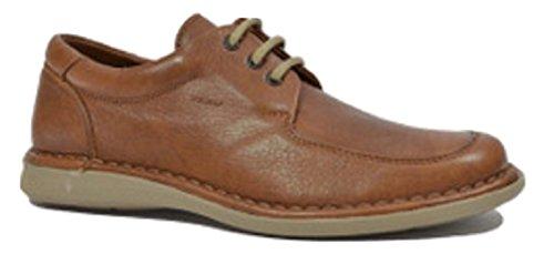 FRAU Zapatillas de Piel Para Hombre Marrón Nogal