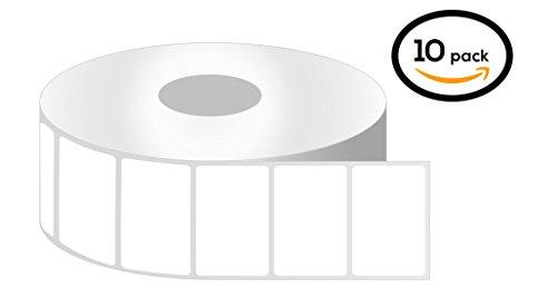 Removable 1 Roll (1 Inch Core - 1.5 x 1 Zebra Compatible Direct Thermal Quick Remove REMOVABLE Labels 10 Rolls for Zebra Desktop Printer LP2824 LP2824Z TLP2824 TLP2824Z LP2844 LP2844Z LP3844Z TLP2844 TLP2844Z TLP3842)
