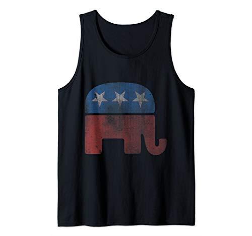 Vintage Republican GOP Elephant Tank Top