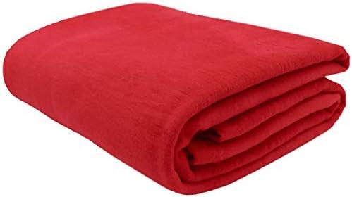ZOLLNER Manta para Cama 90, roja, 60% algodón, Medidas