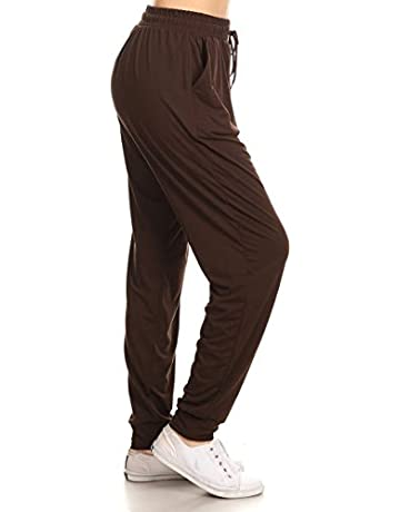 d51c019f5665cd Leggings Depot Premium Jogger Women's Popular Print and Solid High Waist  Track Yoga Full Length Pants