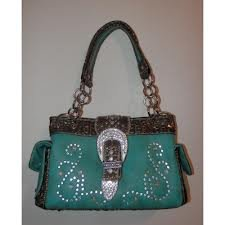 Montana West Concealed Carry Buckle Bag BEG-8085 (Turquoise)