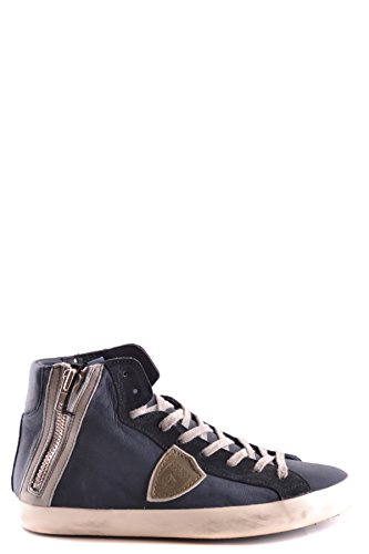 Philippe Model Hombre MCBI238061O Azul Cuero Zapatillas Altas