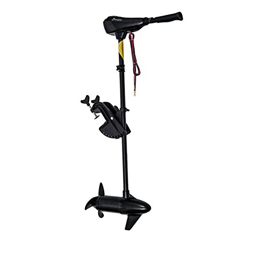 Outsunny 12V Transom Mounted 50-Pound Thrust Electric Fishing Boat Trolling Motor primary