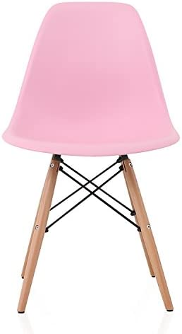 CozyBlock DSW Slope Pink Molded Plastic Dining Side Chair