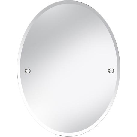 Bristan COMP MROV C Oval Mirror, Chrome, 610 x 500 -