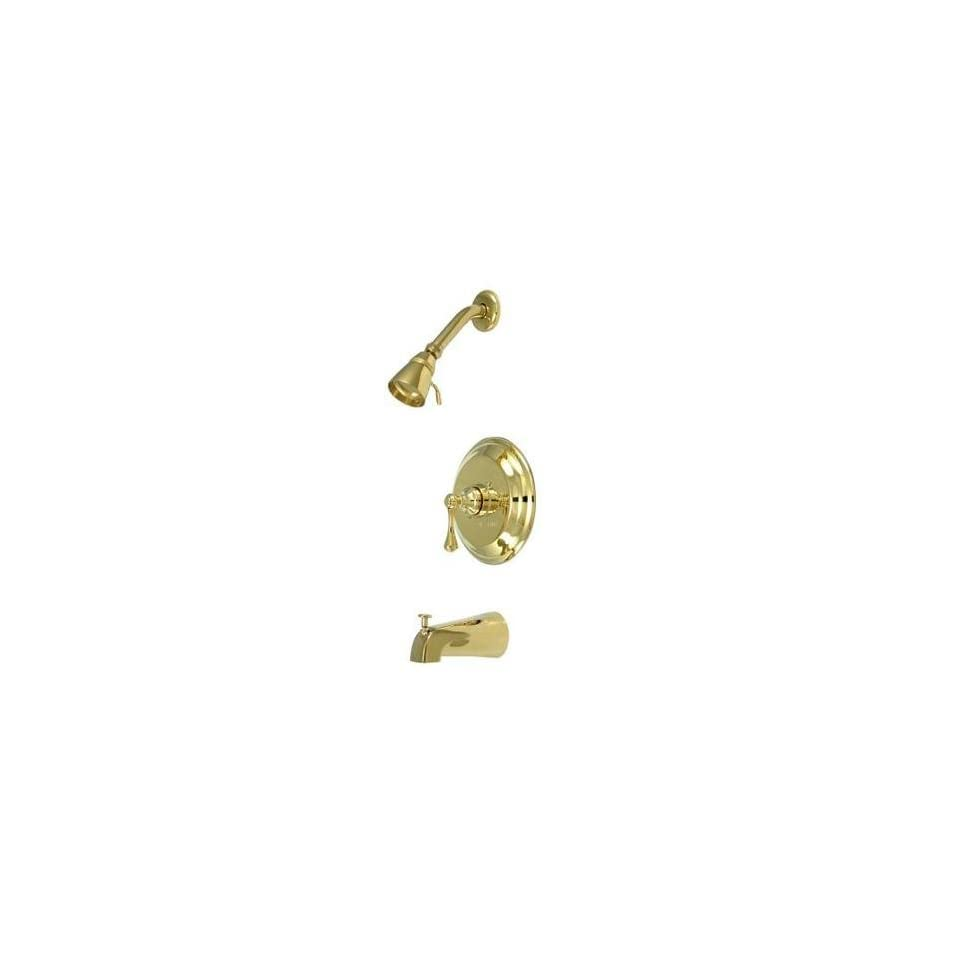 Elements of Design EB2632BL New York Single Handle Tub and Shower Faucet, Polished Brass