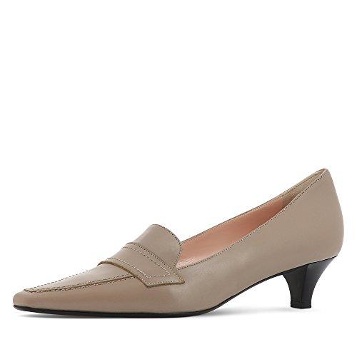 mujer Shoes de vestir Morado Zapatos Piel Evita pardo para de 1qdT0FW