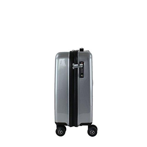 Valise Mercedes Hard Case 3 55cm Argent