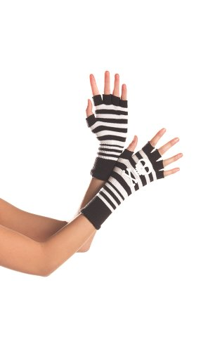 Price comparison product image Be Wicked Women's Fingerless Skull and Cross Bones Gloves, Multi, One Size