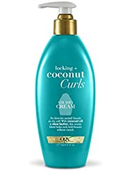 OGX Locking + Coconut Curls Air Dry Cream, 6 Ounce