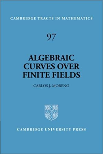 Algebraic Curves over Finite Fields (Cambridge Tracts in Mathematics) by Carlos Moreno (1994-01-28)