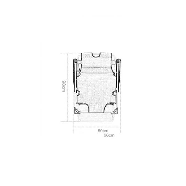 MXueei Regolabile Poltrona Chaise, con poggiatesta Sedia gravità bracciolo reclinabile Lounger Zero Nap Bed Sedia… 3 spesavip