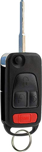 KeylessOption Keyless Entry Remote Flip Key Fob Transmitter for Mercedes Benz ()