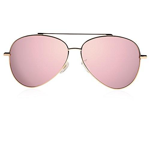 aviador 5 de marca polarizadas mujer de conducción sol Metal La dorado gafas diseñador gafas Steampunk q64w0