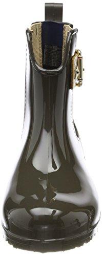 Bottes de et O1285xley Pluie Tommy Sage Hilfiger Femme Noir Military Bottines 14v4 wqanS6x