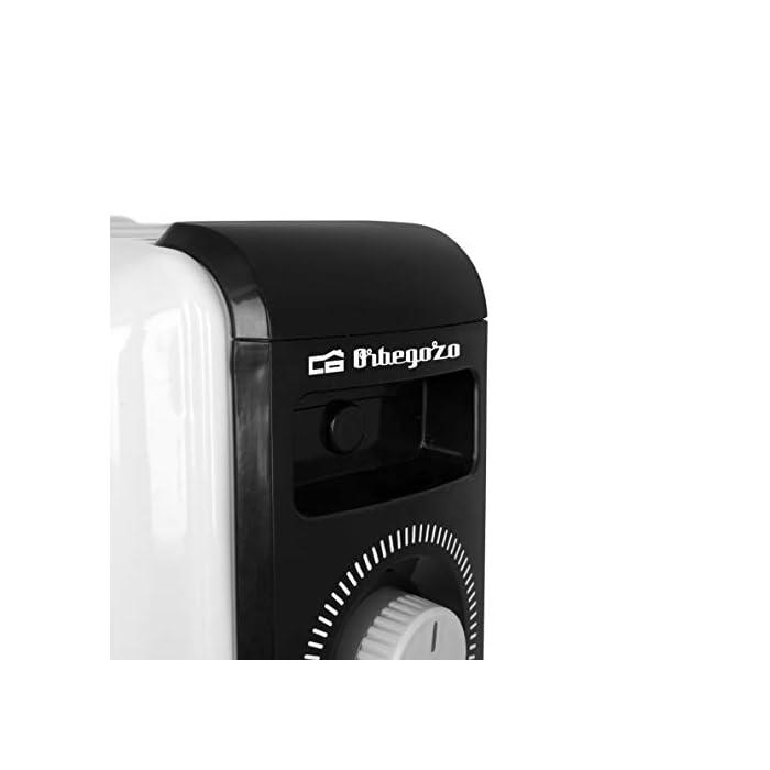 31XtEyTIU6L Radiador de aceite Orbegozo en color blanco, 4 ruedas pivotantes, asa para transporte y recoge cables Potencia de 1000W Termofusible de seguridad con limitador y piloto luminoso de encendido