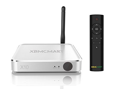 XBMCMart X10 Smart 4K TV Box with Bluetooth Remote [2GB RAM/16GB ROM  S912 OCTA CORE]