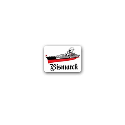 Bismarck battleship German Navy class lake Germany Tirpitz Hamburg military badge emblem for Audi A3 BMW VW Golf GTI Mercedes (10x7cm) - Sticker Wall Decoration -