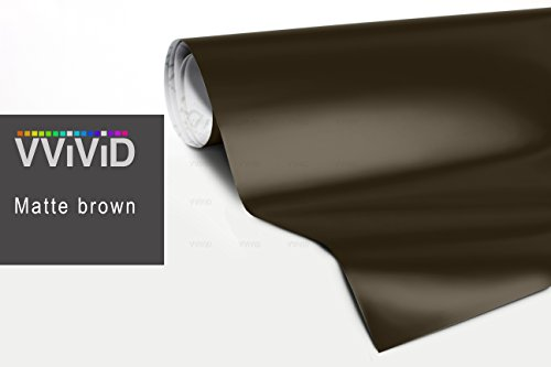 VViViD XPO Matte Brown Vinyl Wrap Roll with Air Release Technology (6ft x 5ft (Hood, Roof or Trunk Wrap Kit))