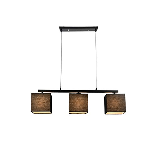 MGCHx Chandelier American Northern Europe Rural Led 3 Lights Cloth Modern Simple Restaurant Lights Table Lamp Study Lamp Lamps A+ ( Color : B: ma se )