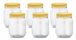 FEELINGS 6PCS PET JAR PLASTIC CONTAINER 1000ML EACH