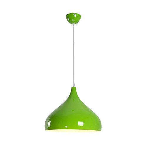 Creative Personality Color Adjustable Aluminum Art Chandelier Modern And Simple Single Head Restaurant Ceiling Light Bar Counter Cafe Theme Pendant Lamp (Color : Green (Theme Counter)