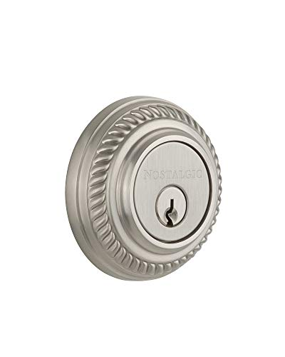 (Nostalgic Warehouse 719206 Rope Solid Brass Double Cylinder Deadbolt with 2-3/4