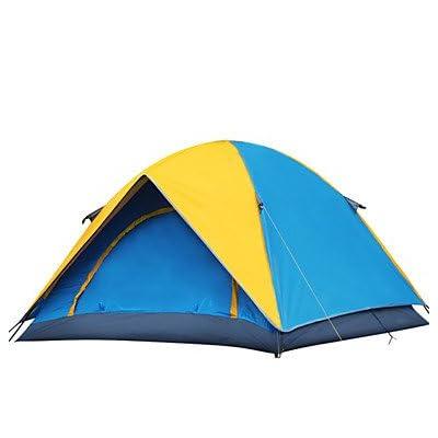 Tente- (Jaune / Orange,3-4 personnes)Etanche / Respirabilité / Résistant à la poussière / Résistant au vent / Bonne ventilation / Garder , yellow