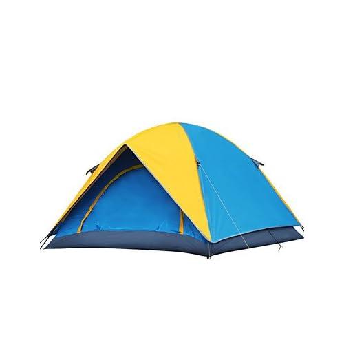 Tente- (Jaune / Orange,2 personnes)Etanche / Respirabilité / Résistant à la poussière / Résistant au vent / Bonne ventilation / Garder au , orange