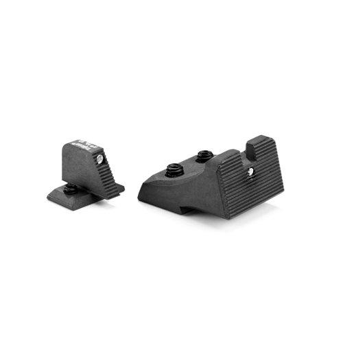 #3960L Heinie's HK 45, 45C & P30 Tactical (for use w/suppressor) LEDGE (.156 rear notch width) Straight Eight (2Dot) Tritium Night Sight Set (Front & Rear)