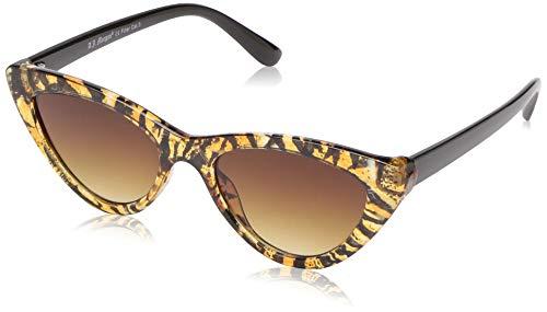A.J. Morgan Sunglasses Women's Naughty Cateye Sunglasses, Tiger, 51 mm