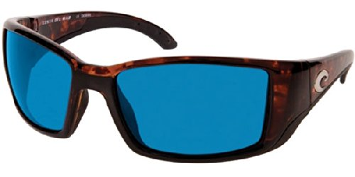 Costa Del Mar Blackfin 580G Polarized Blue Wave Glass, Shiny Tortoise - Frames Blackfin Glasses