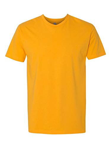 Next Level Mens Premium Fitted Short-Sleeve Crew T-Shirt - 3X Plus - Gold