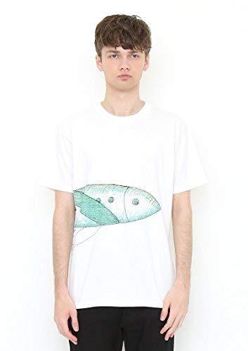 戦艦重さデザート(グラニフ) graniph コラボレーションTシャツ/ごろごろにゃーん (長新太) (ホワイト)