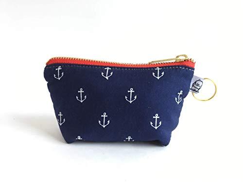 Handmade Fabric Handbags - Charlie Change Purse Anchor, Change Purse, Zippered Pouch, Zippered Handbag, Fabric Accessories, Accessories, Cosmetic Bag