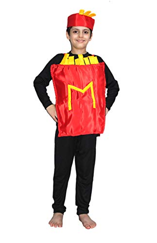 (French fries fancy dress for kids,Object Costume for School Annual)