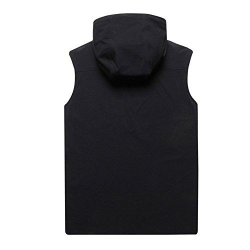 Shirt Casual Sans Noir À Manches Courir Sport GAOLIXIA Gilet Athletic Manches À Jogging T Hommes Sans Capuche Débardeurs Capuchon Black xqRpw4fv