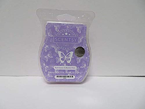 Scentsy Rainbows & Butterflies Wickless Candle Tart Warmer Wax Bar, 3.2 Fl Oz, 8 Squares