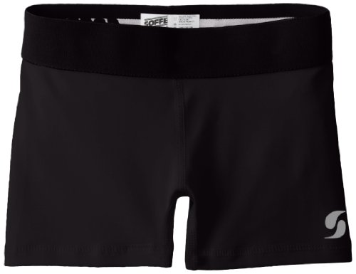 Soffe Big Girls' Dri Short, Black, Medium