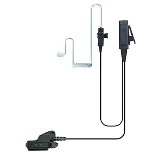Valley Enterprises 2-Wire Coil Earbud Audio Mic Surveillance Kit for Motorola Two-Way Radios HT1000, XTS5000
