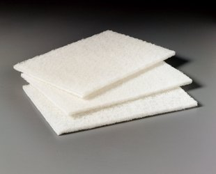 3M 98N Scrub Pads, Commercial-Grade 3M 98 White Cleaning Pad